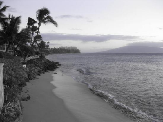 black and white photo of ocean view: From Review: We enjoyed our stay on Aug