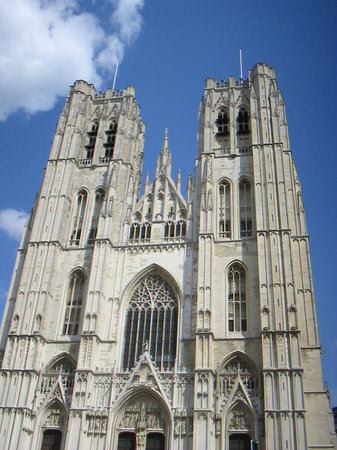 Brussels, Belgium: Cathdrale Saints-Michel-et-Gudule