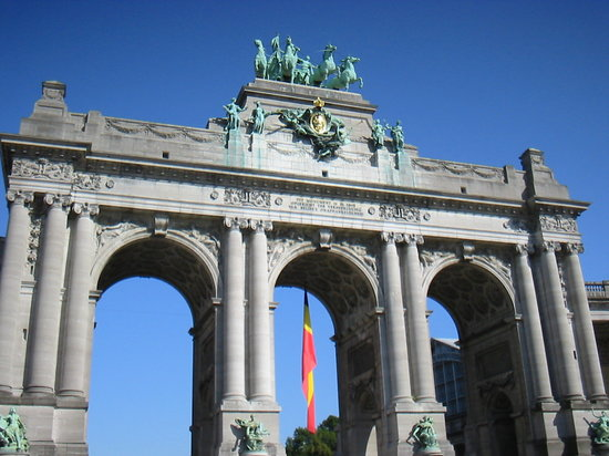 Brssel, Belgien: Arc triomphal du Parc du Cinquantenaire