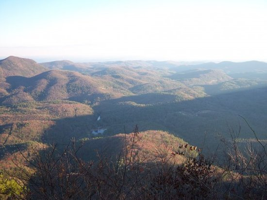 Highlands, Carolina del Norte: view from the top of the mountain