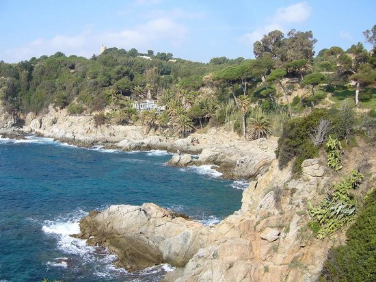 Entre Lloret de Mar et Barcelone la cte est superbe