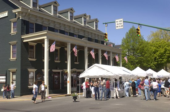 , : The Lewisburg Hotel During the Spring Arts Festival