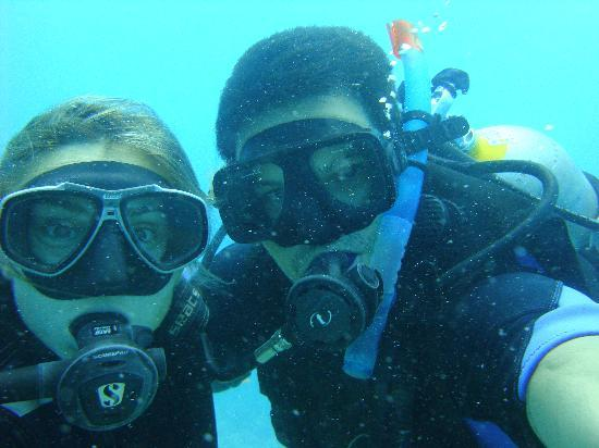 Natalia instructor and me picture of dive shop mexico - Dive shops near me ...