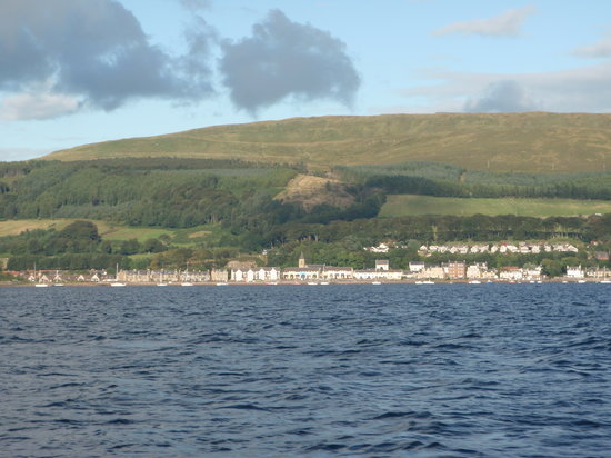 The view of Largs from the Clyde