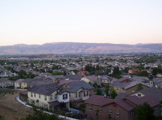 Gilroy, Californië: view from my aunt and uncle's house on the hill in california