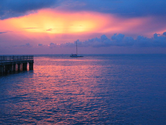 Cozumel, Mexique : sunset