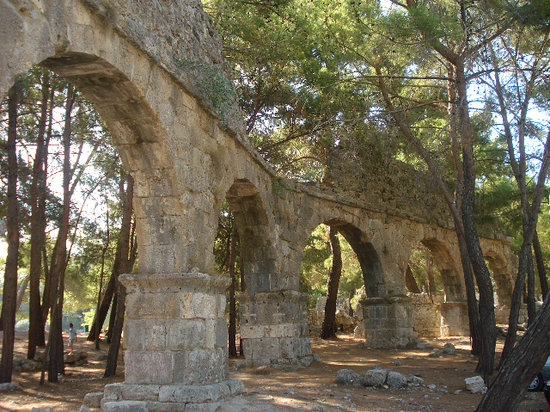 Turkish Mediterranean Coast, Turkey: Phaselis Aqueduc,, 14 August 2009