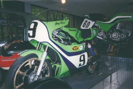 Old School Kawi Race Bike In The Motorcycle Hall Of Fame