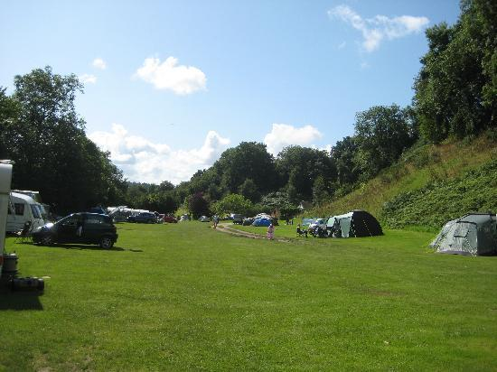 Church Stretton, UK: The campsite looking towards valley