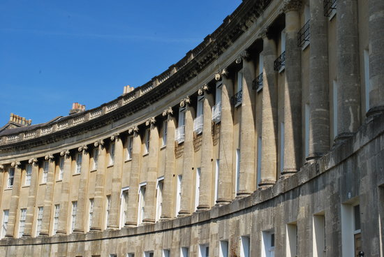Бат, UK: Royal Crescent, Bath, England