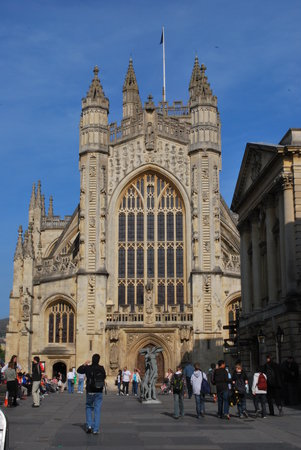 , UK: Bath Abbey, Bath, England
