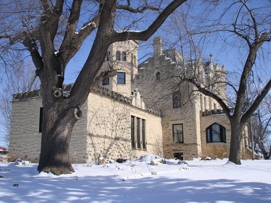 Omaha, NE: A side view of the castle. The room closest to me is the music room.