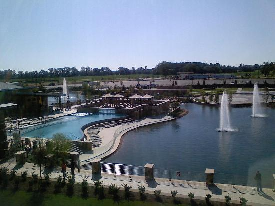 Wind Creek Casino & Hotel: window view from room overlooking lake and pool