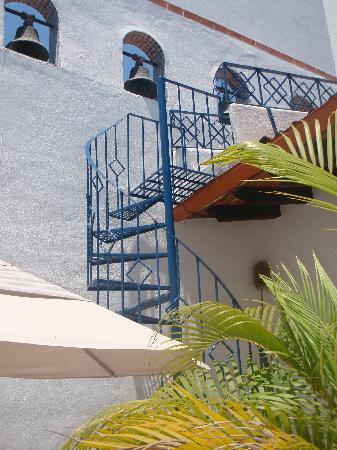 Villa Franchesca: stairs to upstairs terrace