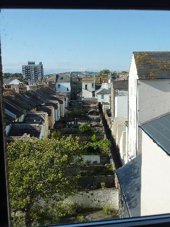 Worthing, UK: window view (just see the downs in the distance!)