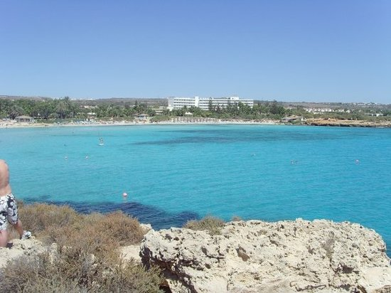 Agia Napa, Kypros: Gorgeous view from Nissi Bay