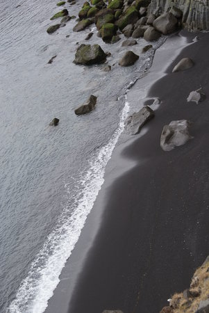 Reykjavk, Islanda: black sand beach - Snaefellsnes tour