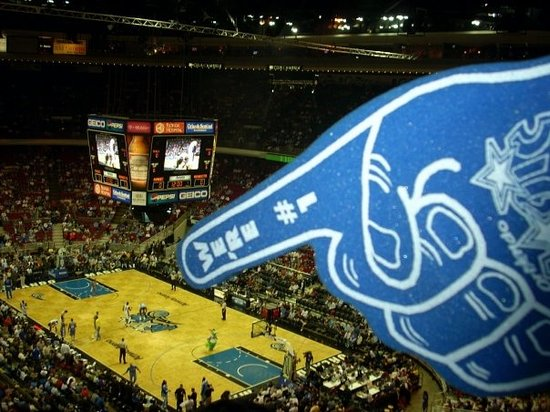 Amway Arena points a giant foam finger at Van Gundy and says, How dare you diss me!