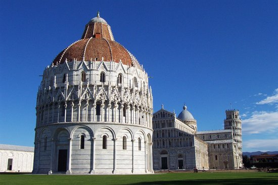Pisa, Italy: Baptistry, Duomo, and Tower