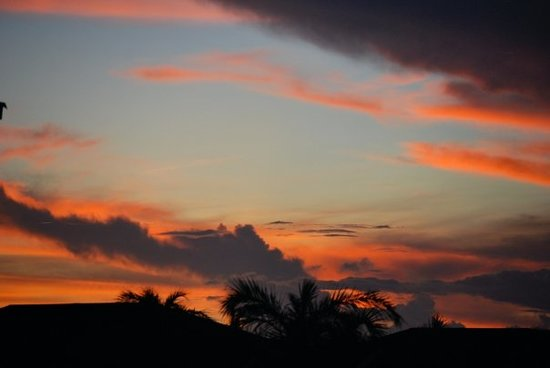 Cayo Coco, Cuba: red sky at night