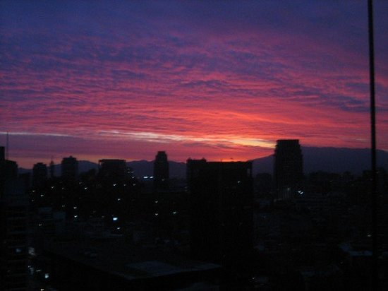 ‪سانتياجو, شيلي: Santiago, Chile - sunset‬