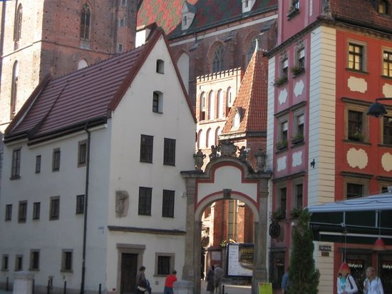 Wroclaw The Hansel And Gretel Houses In Front Of St