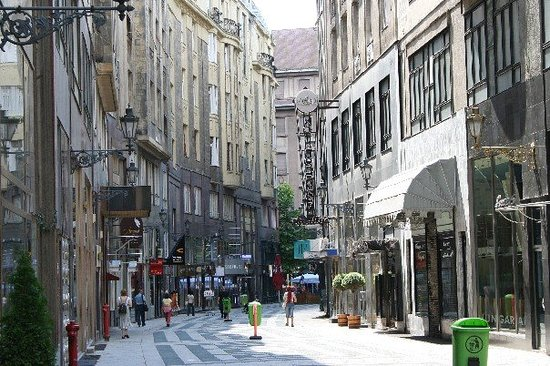 Fashion Street in Budapest