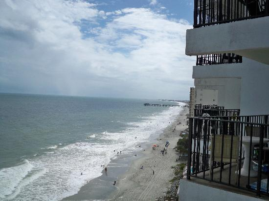 Garden City Beach, Carolina Selatan: view from balcony of Garden City Pier