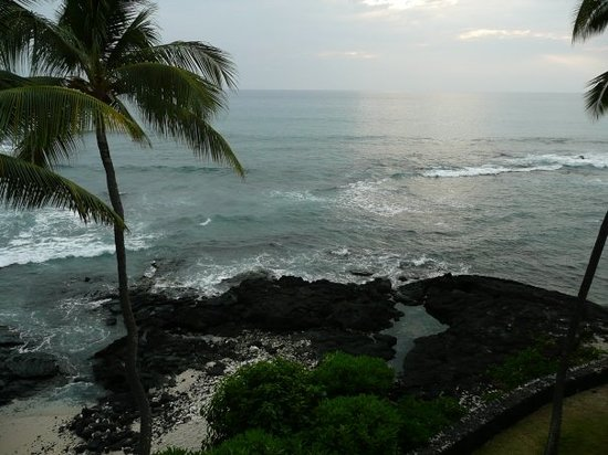 Kailua-Kona, Hawaï: The view from our hotel room