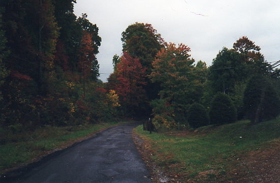 Beckley, WV: West Virginia in the Fall.  On the  road by Aunt Helen's House.