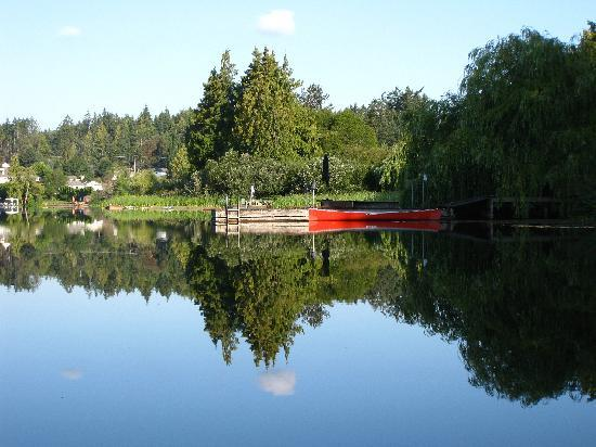 Cycle-Inn Bed and Breakfast: The lake as seen from the canoe