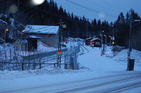 Soria Moria Hotel: Voksenkollen station, Oslo (10 o'clock in the morning!)