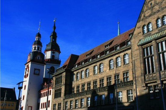 Germany  - Chemnitz, Old and New Town Hall