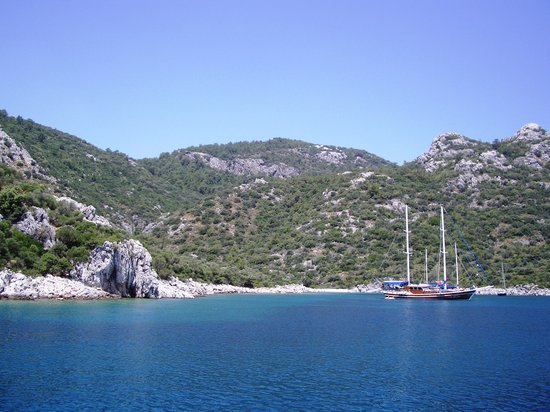 Marmaris, Turquie : Often moored in the same cove as other tours 