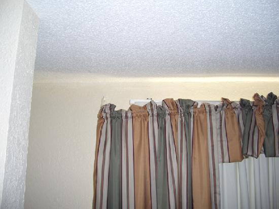 Country Inn & Suites - Georgetown: This is one of the curtains. They were both hanging on by a thread.