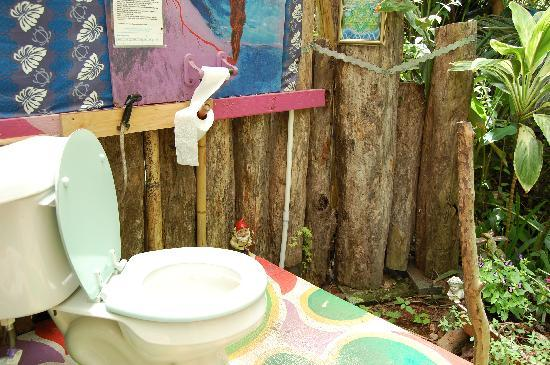 Hedonisia Hawaii Sustainable Community: The outdoor eco-toilet
