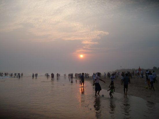 Accra, Ghana: Beautiful sunset on the beach...another dream come true for me to take snaps of a sunste on the