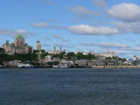 Levis, : View of Quebec City from Ferry