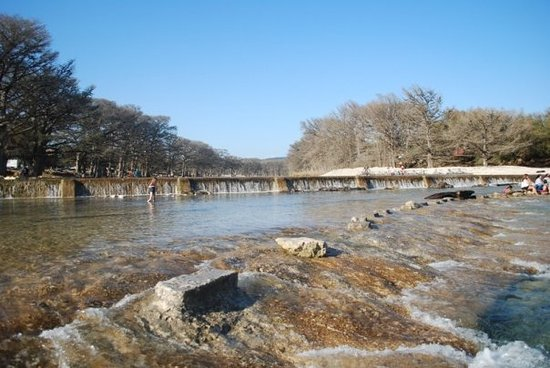 Concan, TX: At the dam.  River is low.