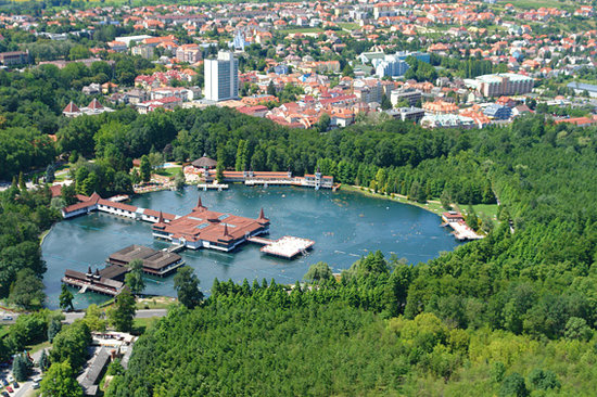 Heviz, Hungary: From the air