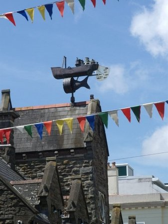 Weathervane at Mermaid Quay, Cardiff waterfront.