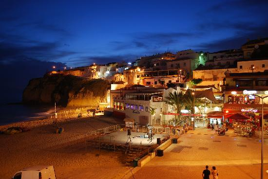 Carvoeiro in the evening. Family orintated