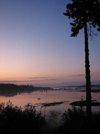 Harbor View Motel And Cottages : early sunrise, view from the motel 