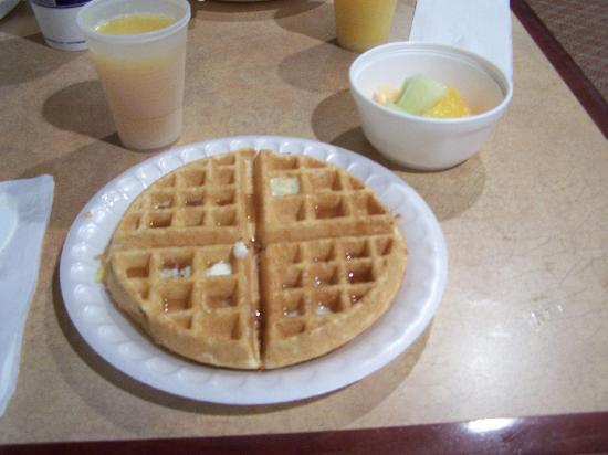 Hampton Inn & Suites Asheville Airport: make your own waffle