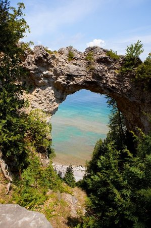 Mackinac Island, MI: Arch Rock.