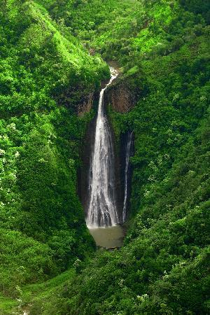 Manawaiopuna Falls From Jurassic Park As Seen From A