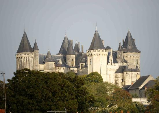 Chateau De Verrieres : The view of the Chateau de Saumur from our bathroom window.