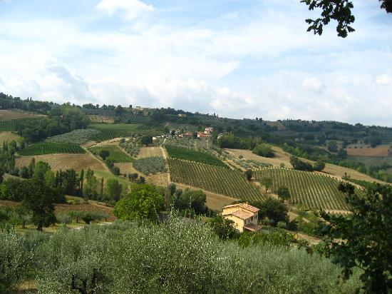 Montefalco, Italien: The view from Casa Turrita