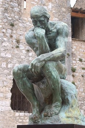 Antibes, Frankrike: Rodin - Le Penseur  Saint Paul de Vence