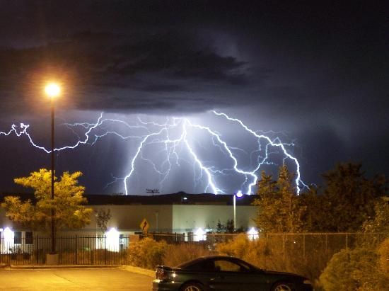 Clubhouse Inn & Suites Albuquerque: Here a photo of the thunderstorm that came over about midnight. One of the best storms I have ev